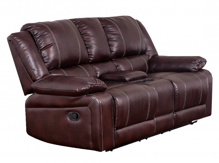 Cali 2 Seater Recliner Brown