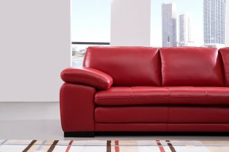 Edward Corner Suite With Lhf Chaise Red