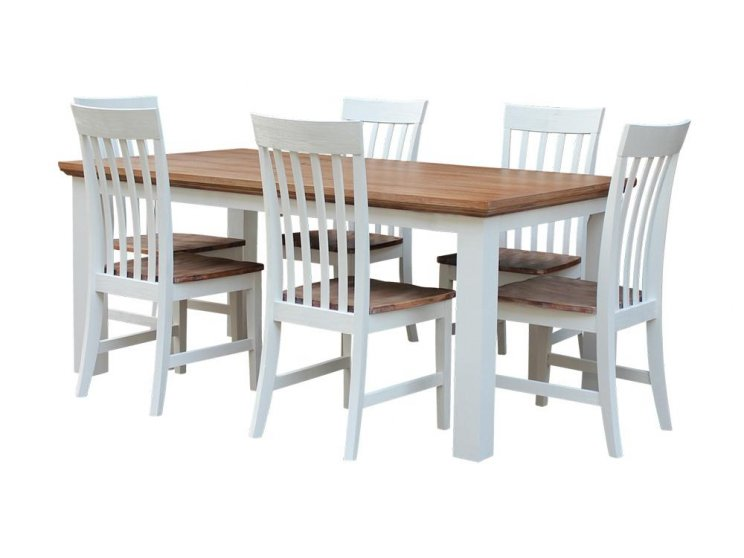 Hamptons 7 Piece 180 Dining Suite
