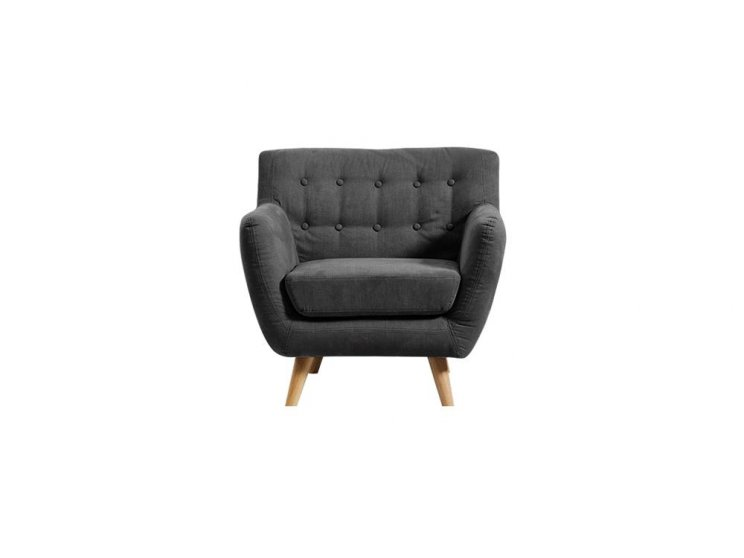 Mika Single Seater Sofa Dark Grey