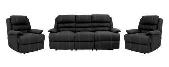 OLIVIA 3 PIECE RECLINER SUITE WITH 2 SINGLE RECLINERS