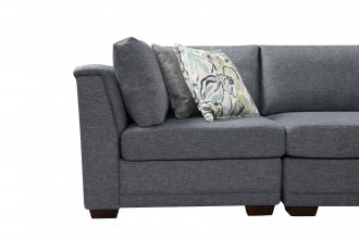QUEBEC MODULAR 3 SEATER WITH STORAGE OTTOMAN