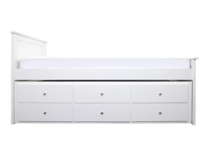 ZOEY TRUNDLE BED FRAME WITH DRAWERS